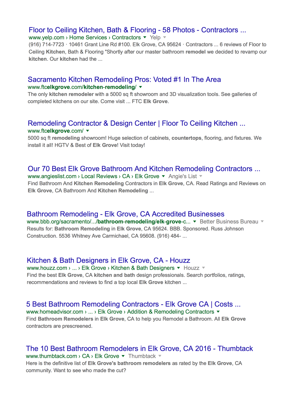 SEO Screen Grab